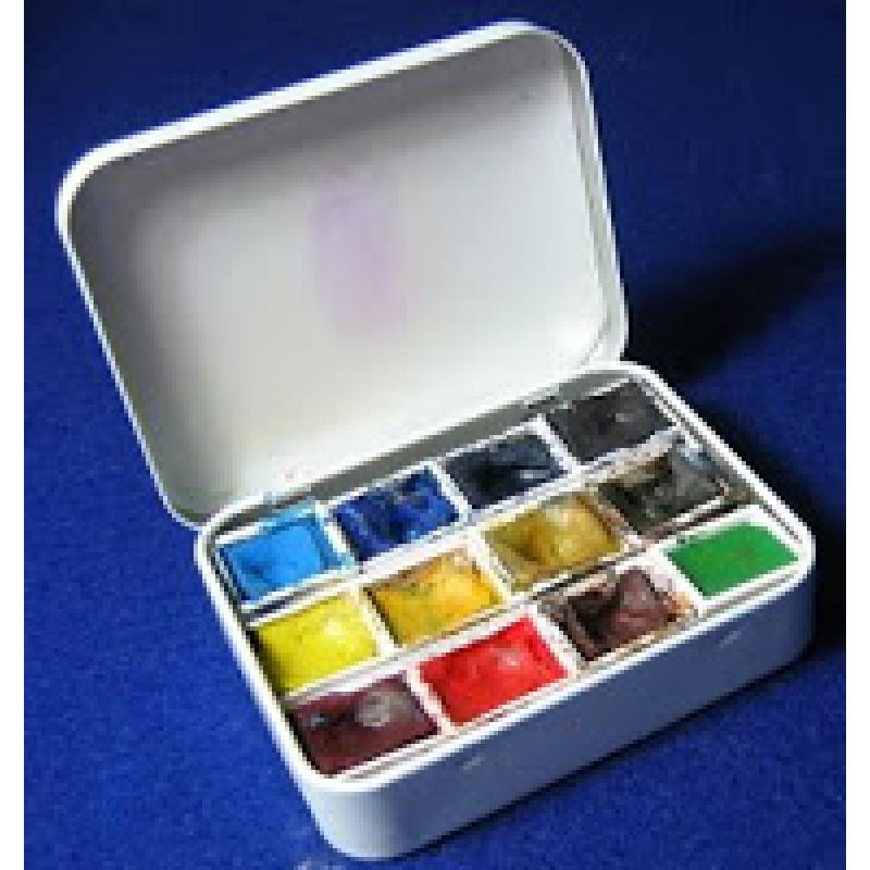 Home Made Watercolour Bijou Box