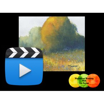 Color, Light and Texture in Watercolors. HD Video Streaming